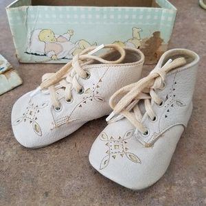 Vintage Ten Little Toes Baby 1st Shoes